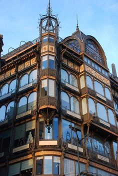 "Art Nouveau ""Old English"" department store building in Brussels - now the Music Museum."