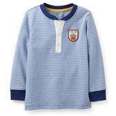 A classic look for your little guy, a handsome Henley t-shirt is a perfect match for his favorite denim.