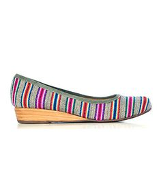 Take a look at this Gray Stripe Wedge by Fortress of Inca on #zulily today!
