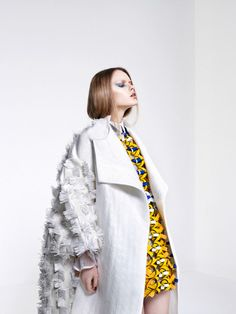 Minju Kim, Be Cover Collection 2013 The surface decoration with the mixture of colours is inspiring because it extends beyond traditional lace work and is made out of unconventional lace work materials such as leather.