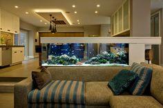 Lindos ambientes decorados com aquários, confira: