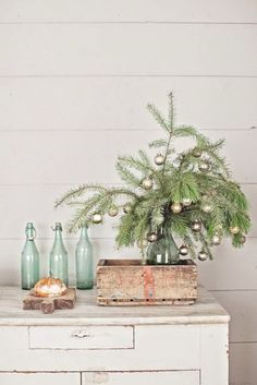 nice Easy Tiny Christmas Tree DIY  ,      I just fell in love with this tiny Christmas tree inspired from stylish French farmhouse living. An insanely easy Christmas DIY you can use... ,  #CoffeeTabledecor #easyflowerarrangements #Homedecor #HomeDecorDIY #homedecoration