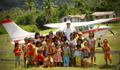 Children with Dave Forney, MAF Pilot/Mechanic in Kalimantan