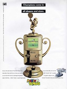 Ad for Mario Tennis on the Game Boy Color Game Boy, Mario, Tennis, Gaming, Ads, Retro, Color, Videogames, Colour