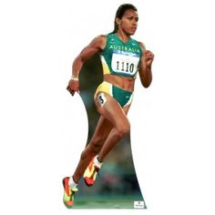 Cathy Freeman Lifesize Cardboard Cutout N177 Sports Celebrities, Celebs, Life Size Cardboard Cutouts, Track And Field, Olympians, The Struts, Running, Female, Celebrity