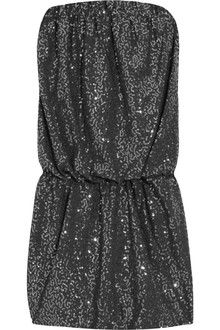 Tibi Sequined Jersey Mini Dress in Gray | Lyst