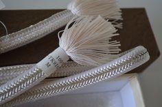 Obi-jime silk kimono cord, white and silver, vintage Japanese by StyledinJapan on Etsy