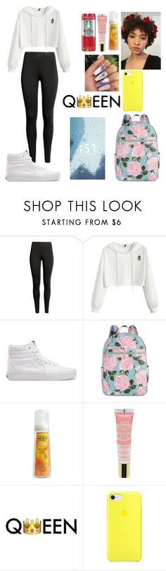 """""""Rainy Day Fit"""" by melanin-flower ❤ liked on Polyvore featuring Vans, ban.do, Cantu and Humör"""