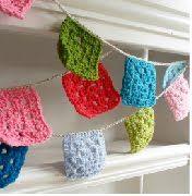 crochet square bunting