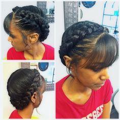 Goddess Braidsoft And Dainty Shichair Peinados Goddess Braids pertaining to sizing 2048 X 2048 Goddess Braid Hairstyles For Black Hair - If you are a Black Girls Hairstyles, Braided Hairstyles, Prom Hairstyles, Teenage Hairstyles, Updo Hairstyle, Braided Updo, Trendy Haircuts, Modern Haircuts, Short Haircuts