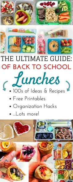 Epic list of over 200 easy bento box style school lunch ideas for kids Healthy make ahead lunch box ideas for teens through kindergarten This list of ideas tips and hacks. Healthy Kids, Healthy Snacks, Healthy Lunchbox Ideas, Healthy Recipes For Kids, Lunchbox Kids, Packing School Lunches, Kid Lunches, Easy Kids Lunches, Healthy School Lunches