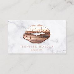 Trendy Marble Rose Gold Lips Makeup Artist Business Card Check out this business card. You can't find this design at your local printer. Makeup Artist Logo, Best Makeup Artist, Freelance Makeup Artist, Makeup Artist Cards, Modern Business Cards, Business Card Design, Business Trendy, Lip Logo, Mode Rose