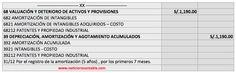 Asiento Contable del registro de amortización de un activo intangible (de acuerdo a la vida utíl) en base a la NIC 38.
