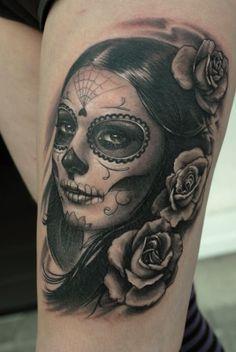 Sugar Skull Girl~ | Dia de los Muertos | Pinterest