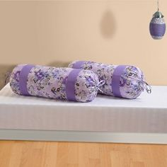Bolster Cover Set of Bolster Covers, Deep Purple, Floral Tie, Accessories, Color, Colour, Colors, Jewelry Accessories
