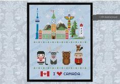 Canada icons (big version) - Mini people around the world