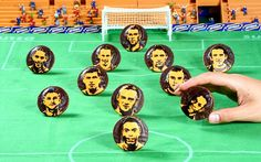 A food artist has given the England football team a taste of success - by recreating their faces on Jaffa Cakes.  Annabel de Vetten, 42, has...