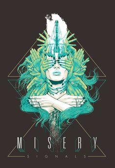 Misery Signals Merch Design, 30x40, digital illustration for...