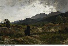 Wojciech Gerson - Cmentarz w górach (cemetery in the mountains) [1894]