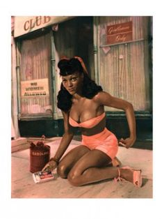 Black Pin-up