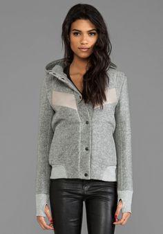 FRANCIS LEON Wind-Warrior Jacket in Grey - Jackets & Coats