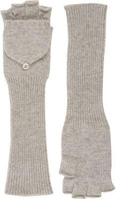 Barneys New York Women's Fingerless Convertible Mittens-TAN