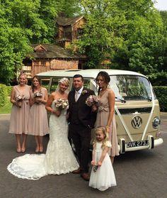 Alnwick Garden wedding www.vwdeluxeweddings.co.uk Chauffeur driven VW Campervan wedding hire in Northumberland, Tyne and Wear, and Durham
