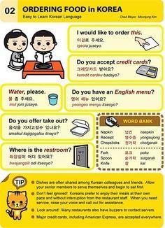 Ordering food in Korea