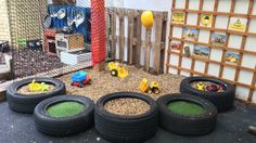 Outdoor Learning, Outdoor Play, Outdoor Ideas, Construction Area Ideas, Mud Kitchen, Learning Environments, Eyfs, Motor Skills, Sustainability