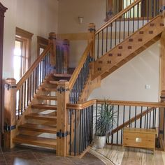 Rustic Stairway Design Ideas, Pictures, Remodel and Decor