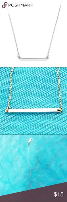 """BAUBLEBAR Slim Bar Pendant Necklace BAUBLEBAR, BAUBLE BAR Slim Bar Pendant Necklace (GENTLY USED) - Lobster clasp and adjustable necklace length. - Chain is 20"""" at longest length and can be shortened to 18"""" at shortest length. - COLOR: Silver BaubleBar Jewelry Necklaces"""