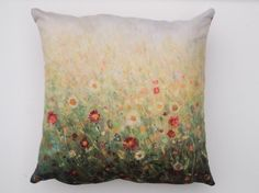 Cushion by Kirstin Handley. Art, Nature, Flowers, Home, Living Room Decoration.
