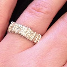 Wrapped wire ring