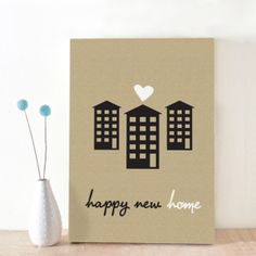 Simple but pretty moving card, for new house owners or people that have just moved in together <3 designed by Oktoberdots