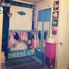 Make a dress up/acting station?  Better than this one...