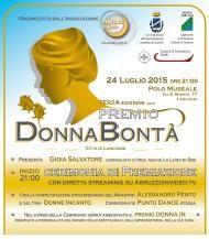 """Venerdi 24 luglio alle ore 21 presso il Polo Museale di Lanciano si terrà la cerimonia conclusiva della terza edizione del """"Premio Donna Bontà-città di Lanciano"""""""