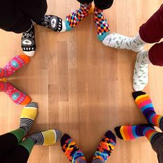 Happy Socks make happy stars! Just a normal day at the #HappySocks HQ. #HappinessEverywhere #SS15