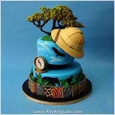 african safari birthday cake - Google Search