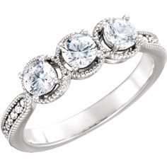 14kt White Diamond Halo Engagement Ring for 4.1mm Round Center  http://baublepatch.jewelershowcase.com/products/122736/?groupId=191364