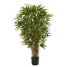 Nearly Natural Twiggy Bamboo Silk Tree, Black