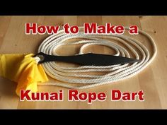How to Make a Kunai Rope Dart (and Rope Dart Specs)* 9 link Whip chain Kunai Naruto whip Survival Tools, Survival Prepping, Survival Project, Rope Dart, Kung Fu, Cobra Weave, Martial Arts Weapons, Homemade Weapons, Paracord Projects