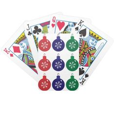 Christmas Baubles Bicycle Playing Cards #Christmas #Baubles #Cards #Poker