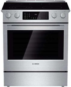 Bosch 30 Inch Slide-in Electric Range with 5 Smoothtop Elements, cu. European Convection Oven, 11 Specialized Cooking Modes, Warming Drawer, Self-Cleaning Mode and Star-K Certified Ranger, Slide In Range, Self Cleaning Ovens, Convection Cooking, Single Oven, Electric Cooktop, Range Cooker, Oven Racks, Heating Element