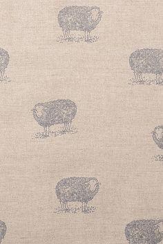Emily Bond Jacob Sheep Linen | Farmhouse Fabrics