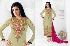 Stylish Designer Semi Stitched  Chudidar #SalwarSuit  #craftshopsindia