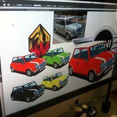 "@Picadillo Ilustrador's photo: ""Mini Cooper #Illustration #Vector #IllustratorCS #Adobe #Art #Artwork #Workbook #GraphicDesign #Motor #Auto #Draw #AlessRuiz #Picadillo #Freelance #Creative"""