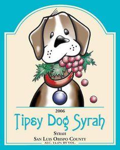 Tipsy Dog Syrah, San Luis Obispo County, 2006. Wood Winery