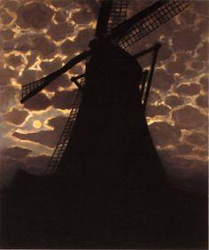 """master-painters: """" Piet Mondrian - Moulin le soir - 1908 """""""