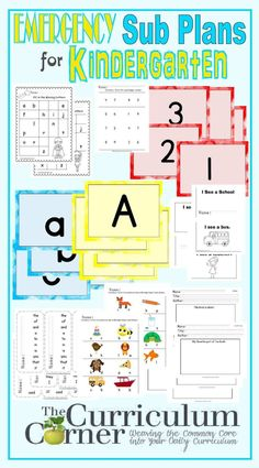 Emergency sub plans are a go-to resource for when you have a substitute teacher. When you can barely pick up the phone to call in sick, here is a free set of kindergarten emergency substitute lesson plans that you can use in a pinch. Teacher Lesson Plans, Kindergarten Lesson Plans, Kindergarten Teachers, Kindergarten Activities, Kindergarten Rocks, Kindergarten Reading, Educational Activities, Emergency Sub Plans, Substitute Teacher