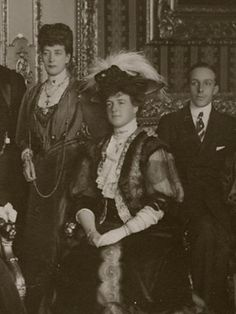 Queen Amélia, Queen Alexandra and King Alfonso XIII of Spain